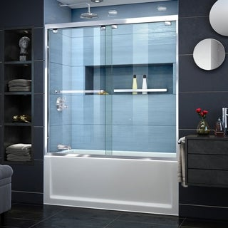 "DreamLine Encore 56-60 in. W x 58 in. H Semi-Frameless Bypass Sliding Tub Door - 56"" - 60"" W"