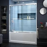 DreamLine Encore 56-60 in. W x 58 in. H Semi-Frameless Bypass Sliding Tub Door
