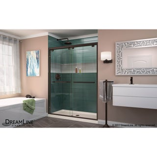 DreamLine Encore 56 - 60 in. W x 76 in. H Bypass Sliding Shower Door (4 options available)