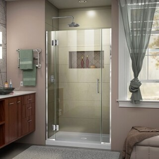 DreamLine Unidoor-X 36 1/2-37 in. W x 72 in. H Frameless Hinged Shower Door - 37 in. w x 72 in. h