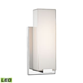 Alico Midtown 1-light Wall Sconce in Chrome and Paint White Glass