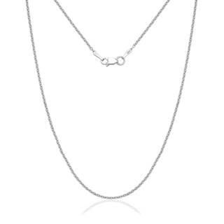 14k White Gold 1.5mm Forsantina Textured Chain Necklace (3 options available)