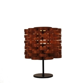 Bamboo Weave Cylinder Brown Lamp (Philippines)