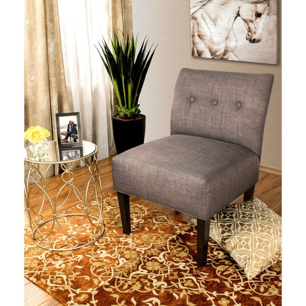 Shop Samantha Button Tufted Ikat Accent Chair Free