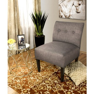 Samantha Button Tufted Ikat Accent Chair