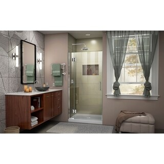 DreamLine Unidoor-X 32 in. W x 72 in. H Frameless Hinged Shower Door - 32 W (Chrome Finish)