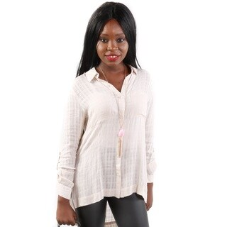 Hadari Women's 3/4 Sleeve Two Pocket Blouse