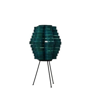 Petal Slat Bamboo Sea Blue Table Lamp (Philippines)