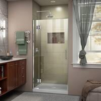 DreamLine Unidoor-X 35 in. W x 72 in. H Frameless Hinged Shower Door - 35 in. w x 72 in. h