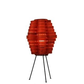 Petal Slat Bamboo Retro Orange Table Lamp (Philippines)