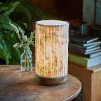 Handmade Paper Cylinder Mini Lines Lamp