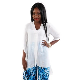 Hadari Women's Sheer V-Neck Tunic (Size Large)