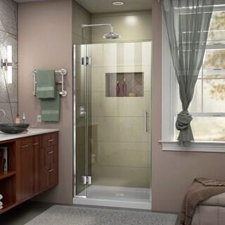 DreamLine Unidoor-X 36 in. W x 72 in. H Frameless Hinged Shower Door - 36 in. w x 72 in. h