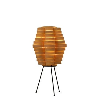 Petal Slat Bamboo Natural Table Lamp (Philippines)