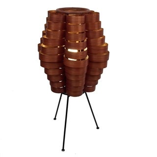Petal Slat Bamboo Brown Table Lamp (Philippines)