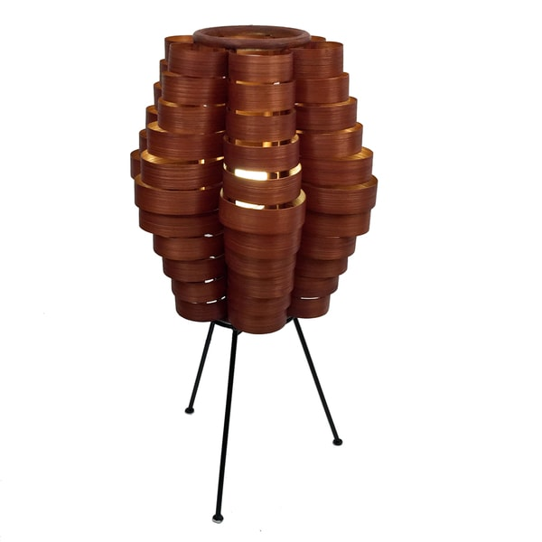 Petal Slat Bamboo Brown Table Lamp (Philippines)