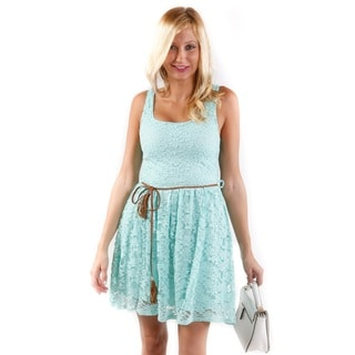 Hadari Women's Floral Lace Summer Dress