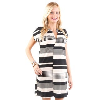 Hadari Women's Striped Mini Dress