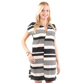 Hadari Women's Striped Mini Dress