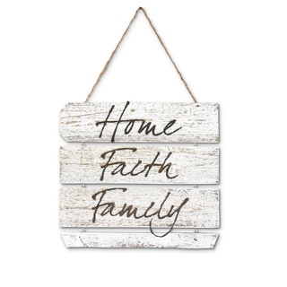 Natural Reclaimed Rustic Expressions 'Home, Faith, Family