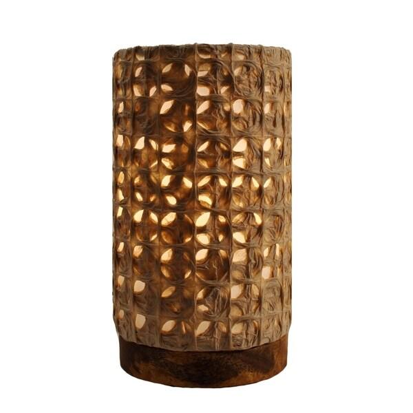 Handmade Paper Cylinder Mini Mesh Lamp