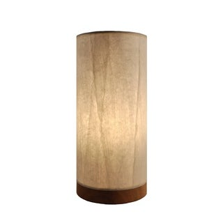 Handmade Paper Cylinder Glacier Table Lamp (Philippines)