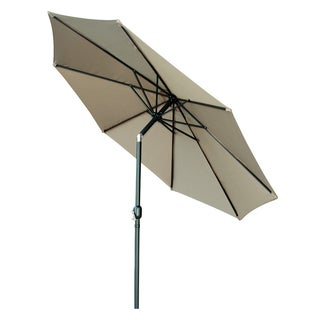 Trademark Innovations Metal/Fabric 9-foot Tilt Crank Patio Umbrella