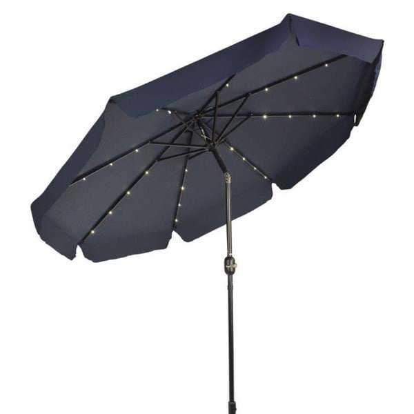 Led Patio Umbrella Reviews: Shop Trademark Innovations 9' Deluxe Solar-powered LED