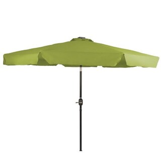 Trademark Innovations 9' Deluxe Solar-powered LED Lighted Patio Umbrella with Decorative Edges