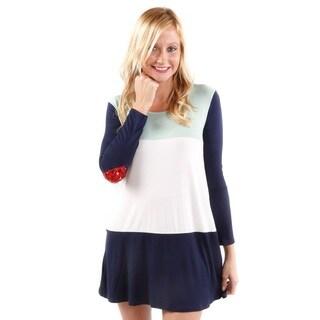 Hadari Women's Color Blocked Heart Tunic (Size Small)