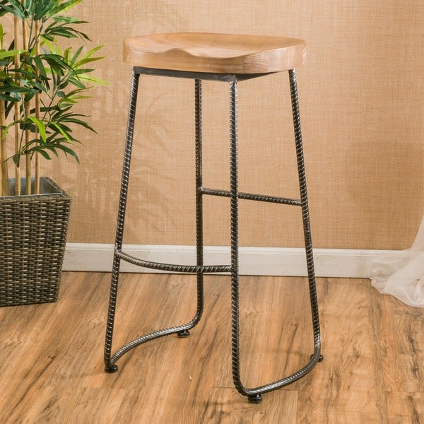 Shop Burgos 31 Inch Rustic Barstool By Christopher Knight Home On