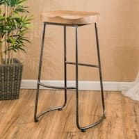 Burgos 31-inch Rustic Barstool by Christopher Knight Home