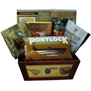 Fisherman's Fun Wooden Snack Tote Basket