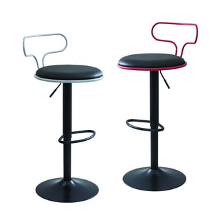 LumiSource Contour Contemporary Adjustable Bar Stool