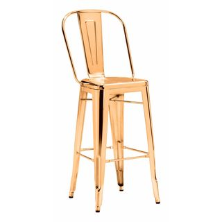 Elio Steel Bar Chair in Gold or Rose Gold (Set of 2)