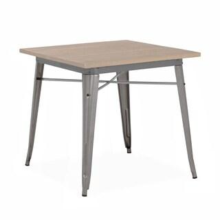 Amalfi Gunmetal and Light Wood 30 Inch Dining Table