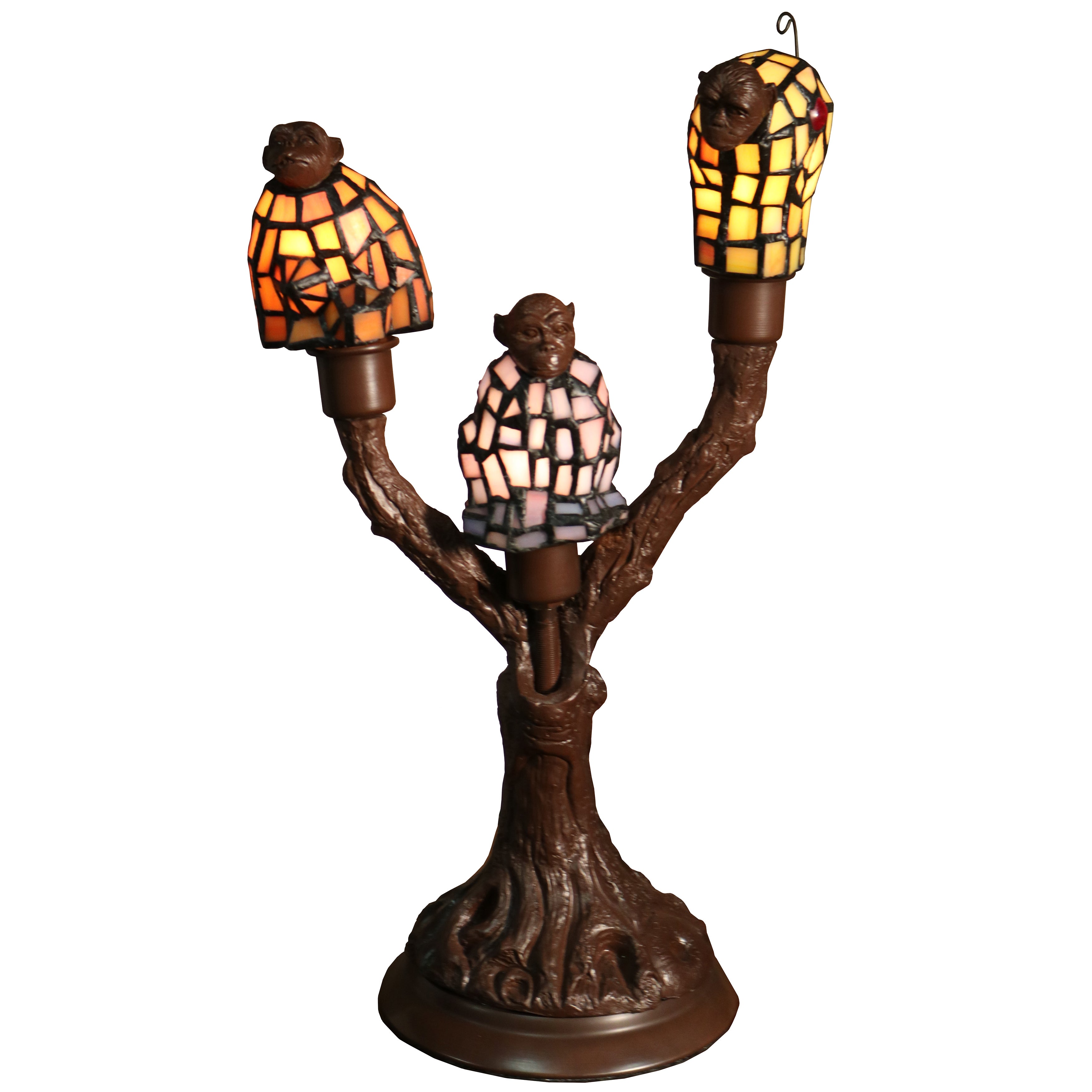 Monkey table lamps lighting compare prices at nextag warehouse of tiffany zendaya 3 light monkey shaped 17 inc geotapseo Gallery