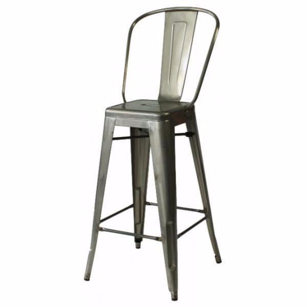 Shop Elio Gunmetal Grey Steel Bar Chair Set Of 2 Free