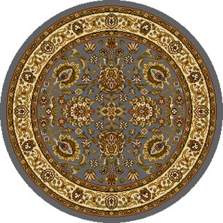 """Home Dynamix Royalty Collection Traditional (5'2"""") Round Machine Made Polypropylene Area Rug"""