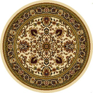 "Home Dynamix Royalty Collection Traditional Round Area Rug (7'10"")"