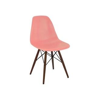 Trige Peach Mid Century Side Chair Walnut Base (Set of 5)