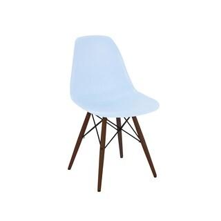 Trige Baby Blue Mid Century Side Chair Walnut Base (Set of 5)