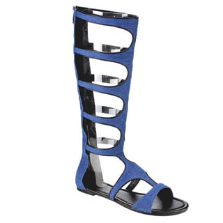 Beston Gladiator Knee High Flat Sandals