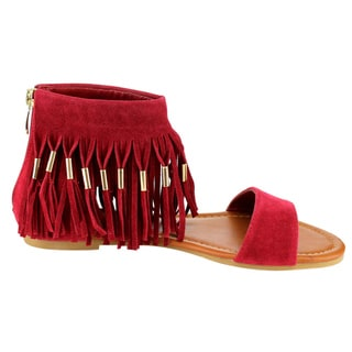 Beston Fringe Flat Sandals