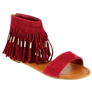 Beston Fringe Flat Sandals