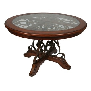 Carmel Round Dining Table in Murano Accent/Cosmo Sepia
