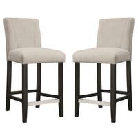Ramiro Fabric Upholstered Counter Height Stools (Set of 2)