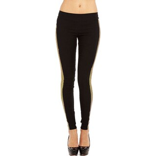 JR Fashion Women's Black and Gold Legging
