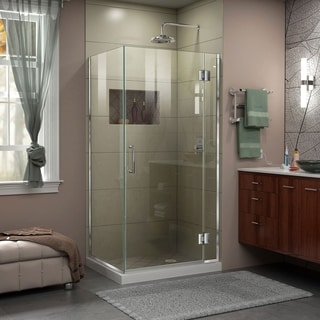 "DreamLine Unidoor-X 30 3/8 in. W x 30 in. D x 72 in. H Frameless Hinged Shower Enclosure - 30"" x 30.38"""