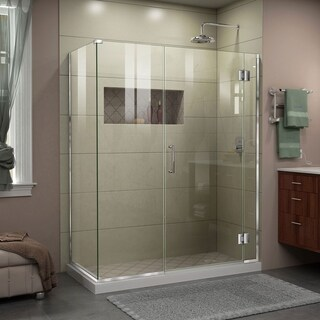 DreamLine Unidoor-X 46 1/2 in. W x 34 3/8 in. D x 72 in. H Frameless Hinged Shower Enclosure - 46.5 in. w x 72 in. h